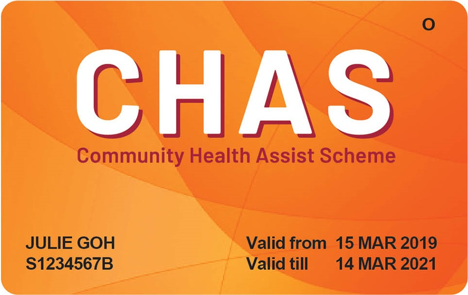 Orange CHAS Card